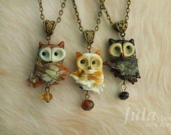 Owl,Pendant owl, Necklace owl