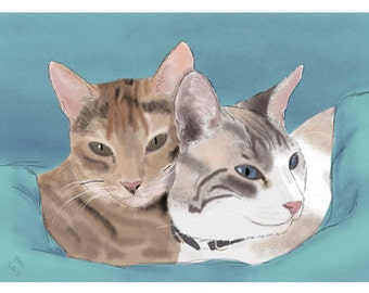 Cat Greeting Card, Blank, Nutmeg & Bailey Design No A6023