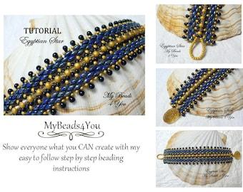 Beading Instructions, Beading Pattern and Tutorial,Beadwork Bracelet Pattern,Beadweaving Tutorial,Seed Bead Tutorial,PDF Superduo Tutorial