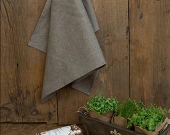 Charcoal Linen Tea Towel