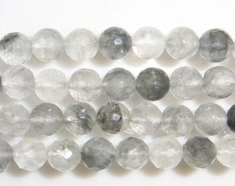 6mm Round Cut Cloudy Quartz Bead Semiprecious Gemstone Bead String Beading 15''L Jewelry Supply Wholesale Beads
