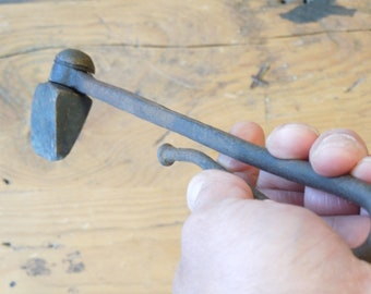 Antique Copper Soldering Iron, Hand Forged Tinning Tool, Copper Gutter Tool, Primitive Tool, FREE SHIPPING!!