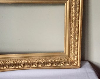 "Two gold frames - oversize with thick wide molding - set of two - 22"" x 14"""