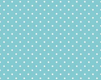 SALE Aqua - Swiss Dots - by Riley Blake - 1/2 Yard