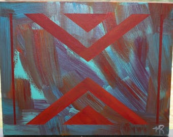 Original Abstract Painting - Acrylic on Canvas Panel