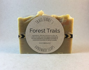 SOAP Forest Handmade Soap Bar - Cold Process Soap - Vegan Soap - Artisan Soap - Homemade Soap - Natural Skin Care - Nature - Self Care