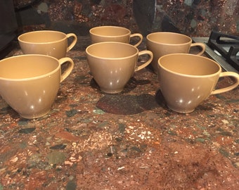 6 PROLON MELBAC brown coffee cups