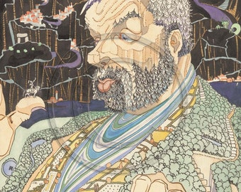 Jack and the Beanstalk, English Fairytale, 1920s Art Print