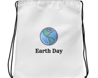 Earth Day Drawstring Bag, Perfect