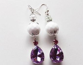 Pink & White Earrings