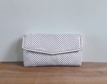 Vintage 70's White Glomesh Disco Handbag Purse with Strap