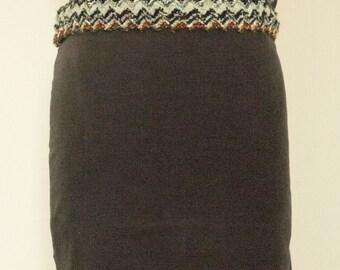 Blue plum velvet  skirt