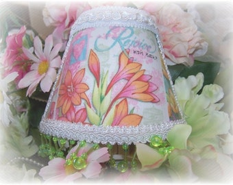 NEW Rejoice with Nature Garden Collection NIGHT LIGHT Colorful Florals with Bright Green Florescent Beading