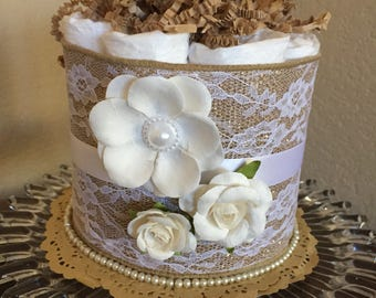 Country Chic Mini Diaper Cakes/Baby Shower/Girl's Baby Shower/Boy's Baby Shower/Mother-To-Be Gifts/Country Chic/Diaper Cakes
