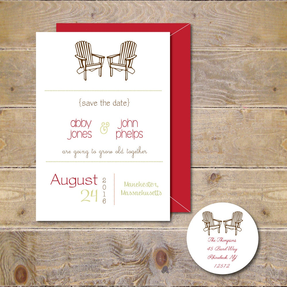 Adirondack Chairs Save The Dates Wedding Save The Dates