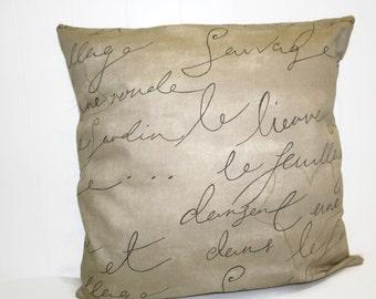 Waverly Decocrative Pen Pal Parchment Home Decor Pillow Cover