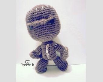 Little Big Planet - Angry Sackboy - Crochet doll - Handmade - FREE SHIPPING US