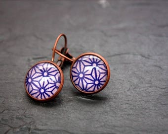 French art deco style earrings