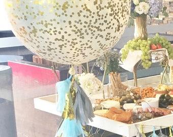Tissue Paper Tassel Balloon String/Pom Tassels/Party Garland/Party Tassels/Paper Banner/Party Decor/Confetti Balloon/Big Balloon/Birthday