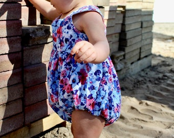 Floral Infant Playsuit | Baby Romper | Girls Bodysuit | Baby Jumper | Toddler Romper | Handmade Girls Romper | Unique Playsuit
