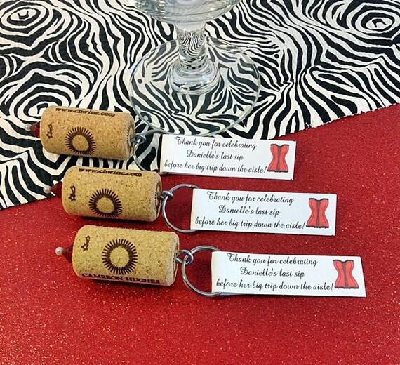 Cork Wedding Favors: Wine Cork Keychain Favors Great Wedding Or Bridal Shower
