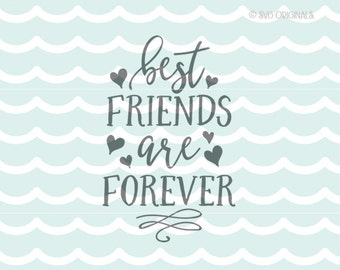 Best Friends Forever SVG Best Friends SVG cut File. Cricut Explore and more! Best Friend Friends Forever Friendship Hearts