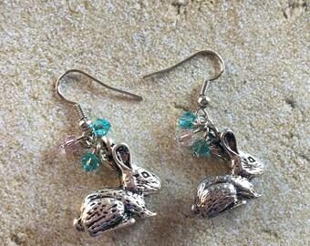 Easter Earrings, Easter Jewelry, Easter Gift, Bunny Earrings, Gift For Her