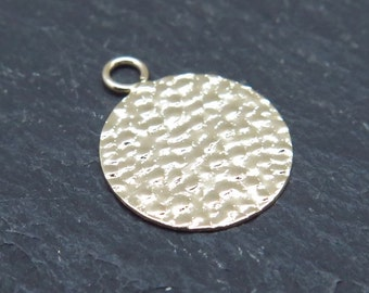 Gold Filled Hammered Disc 13mm
