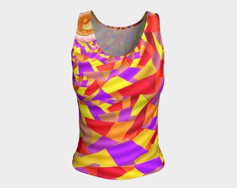 Blazing Sun Fitted Tank Top