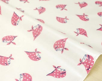 Japanese Fabric Kerchief Girls laminated - pink - 50cm