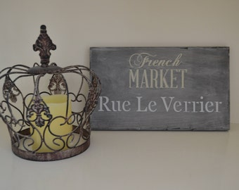 """French Market Sign 7.5""""X12"""""""