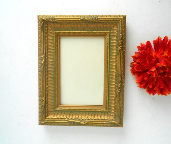4x6, Picture Frame, Antique Gold Photo Frame, Gold Picture Frame ...