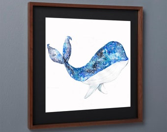 whale art print, art print