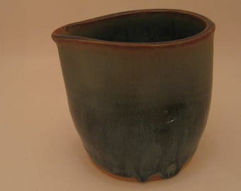 Wheel Thrown Pottery Thumbprint Pitcher