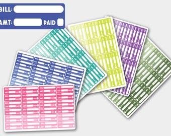 Bill Due  Stickers, Bill Due Planner Stickers, Bill Stickers, Bill Due Stickers for Erin Condren, Happy Planner