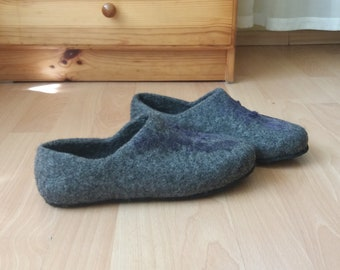 Felt House Slippers Etsy