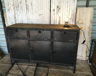 Industrial steel and wood furniture