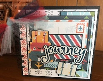 Remember the Journey - Completed mini scrapbook album