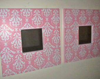 small wall mirrors nursery room shabby chic pink and white baroque - Mirror For Girls Room