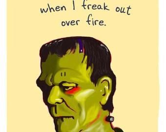Frankenstein 8x10 Print with Phrase