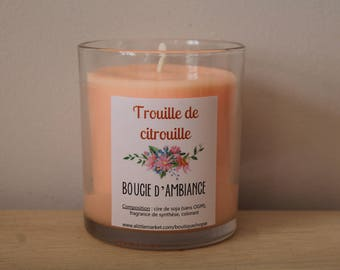 Atmosphere to HALLOWEEN scared pumpkin soy wax candle
