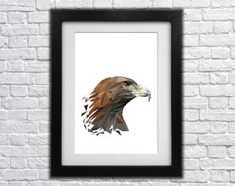 Eagle Low Poly Print