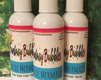 Exotic Mermaid Sea Salt Hair Spritz, Beach Waves, Hair Texturizer, Mermaid Hair Spray, Curl Enhancer, Frizz Control, spritz for curly hair
