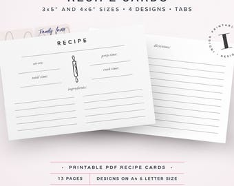 5x7 index card template