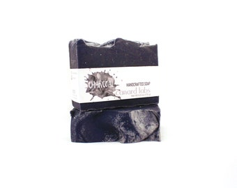 Charcoal Soap | Tea Tree Grapefruit with Activated Charcoal | Facial Soap | Handmade Soap | Natural Soap | For Oily, Acne Prone Skin