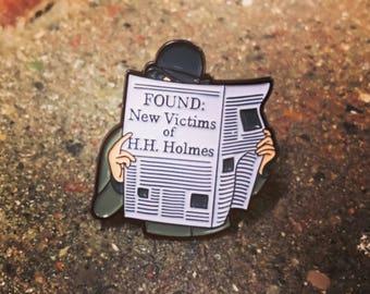 H.H. Holmes Enamel Pin