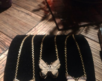 Billion Year-Old Butterfly Necklaces