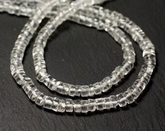 20pc - stone beads - Crystal Quartz Rondelles 4-5mm - 8741140012004 Heishi