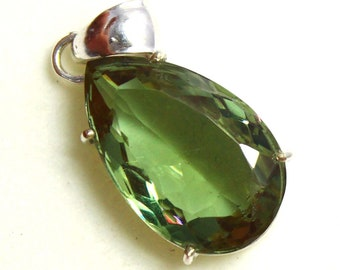 55.80Ct Certified Color Changing Alexandrite Pendant 925 Solid Sterling Silver AQ447