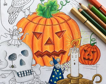 Pumpkin Coloring, Halloween Coloring Pages, Halloween Activity, Halloween Coloring Sheet, Halloween Printable, Halloween Pumpkin,